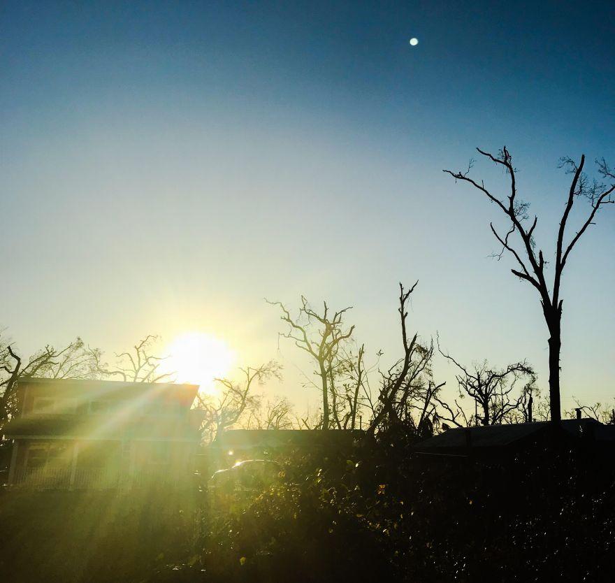 broken sunrise