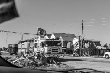 Destruction and Debris left in Mexico Beach, Florida after Hurricane Michael.